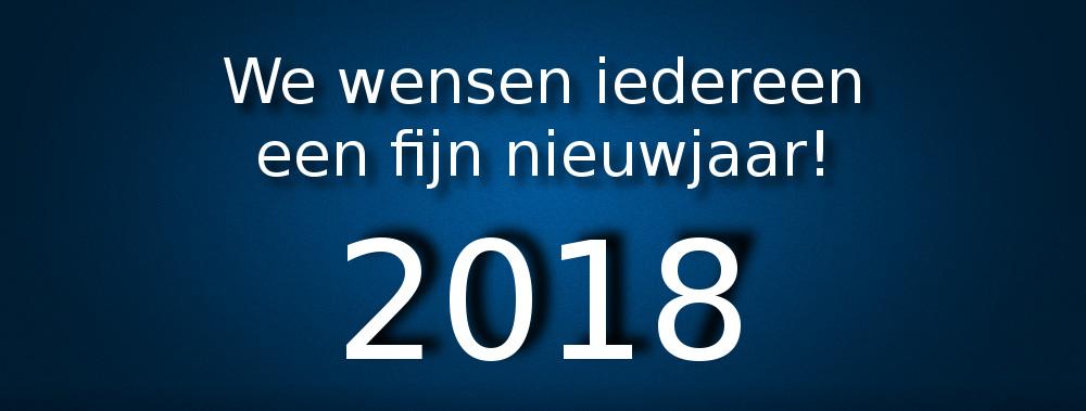 We wensen iedereen een fijn nieuwjaar!